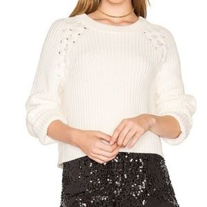 1. State Gilded Age Lace Up Sweater XL Cream
